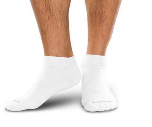 Diabetic Mini-Crew Sock White