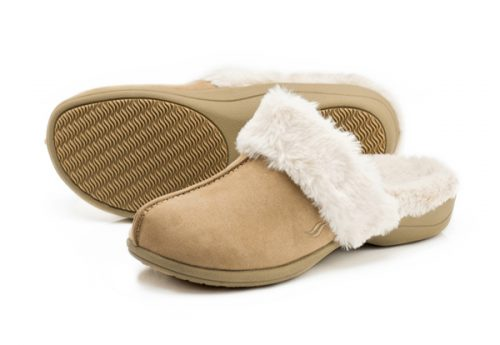 Powerstep Luxe Slipper Taupe Women